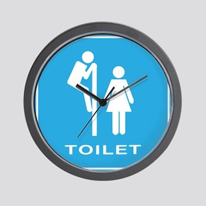 Toilet sign Wall Clock