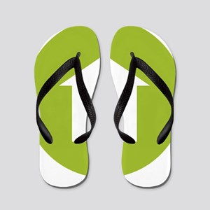 Go green Flip Flops