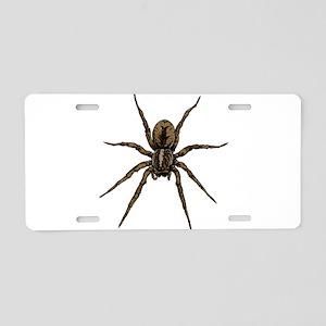 Spider Aluminum License Plate