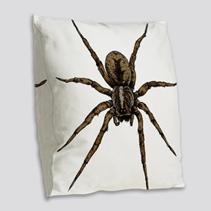 Spider Burlap Throw Pillow