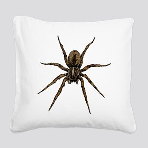 Spider Square Canvas Pillow