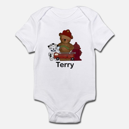 Terry's Fire Bear Infant Bodysuit