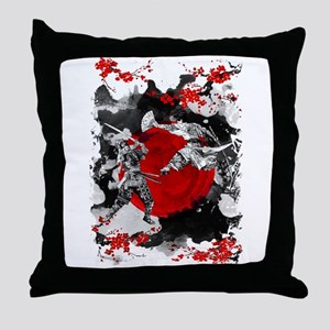 Samurai Fighting Throw Pillow