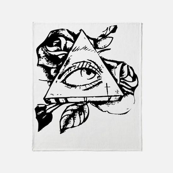 Cool Illuminati Throw Blanket