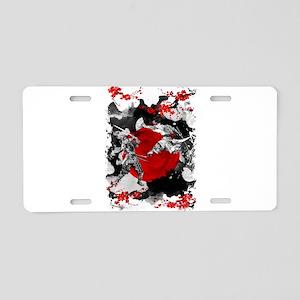 Samurai Fighting Aluminum License Plate