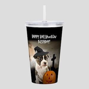 Halloween Birthday Pit Acrylic Double-wall Tumbler