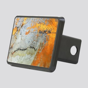 abstract silver grey yello Rectangular Hitch Cover