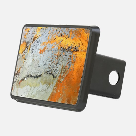abstract silver grey yello Hitch Cover