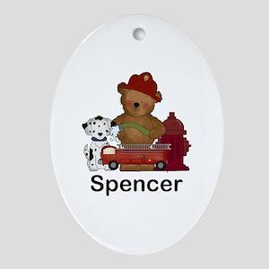 Spencer's Fire Bear Oval Ornament