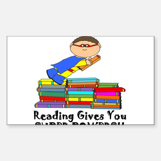 Reading Gives You Super Powers! Decal