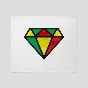 Reggae Diamond Throw Blanket