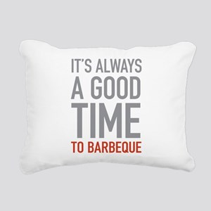 To Barbeque Rectangular Canvas Pillow