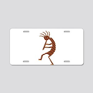 Kokopelli Man Jams Aluminum License Plate