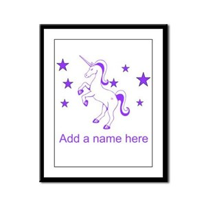 Personalizable Unicorn Framed Panel Print