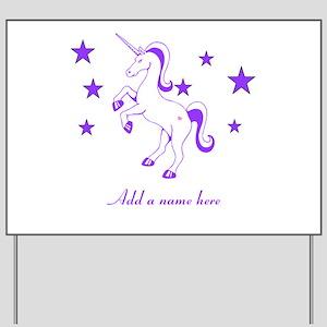 Personalizable Unicorn Yard Sign