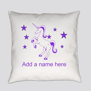 Personalizable Unicorn Everyday Pillow