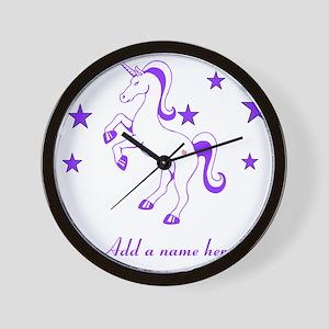 Personalizable Unicorn Wall Clock