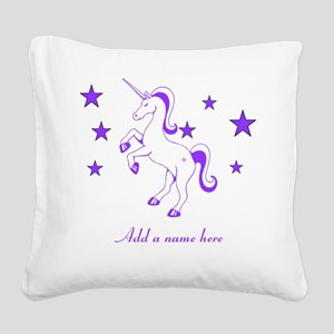 Personalizable Unicorn Square Canvas Pillow