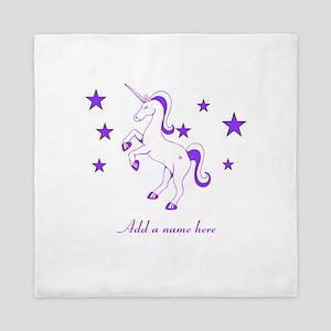 Personalizable Unicorn Queen Duvet
