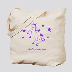 Personalizable Unicorn Tote Bag