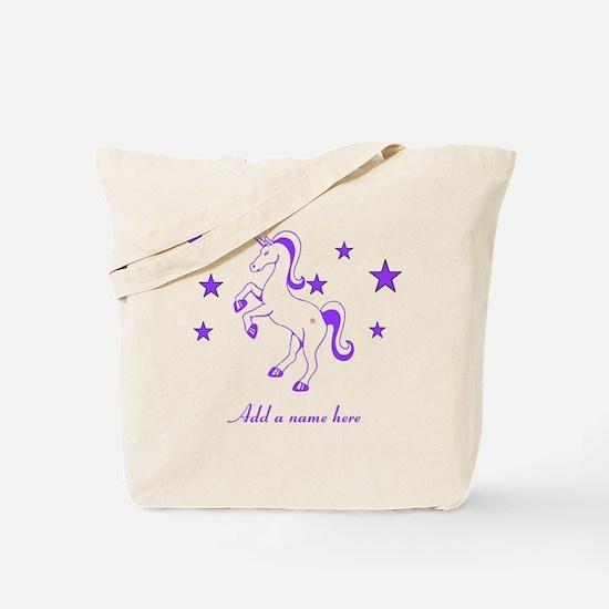 Personalizable Unicorn Tote Bag