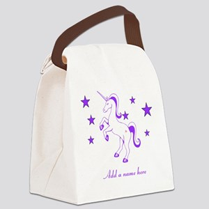 Personalizable Unicorn Canvas Lunch Bag