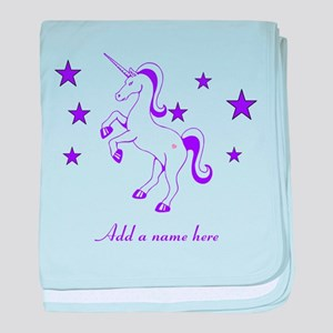 Personalizable Unicorn baby blanket