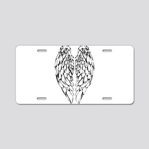 wings Aluminum License Plate