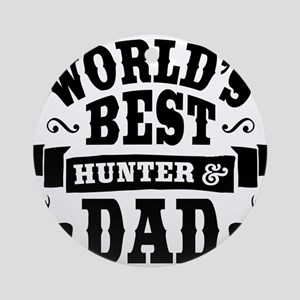Hunter Dad Round Ornament