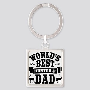 Hunter Dad Square Keychain