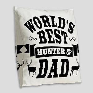 Hunter Dad Burlap Throw Pillow