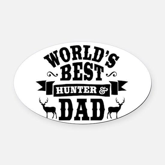 Hunter Dad Oval Car Magnet
