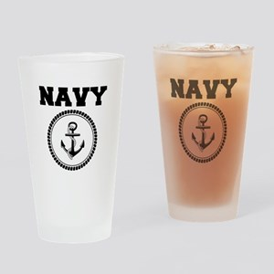 Navy Drinking Glass