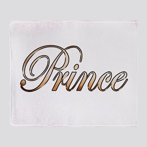 Gold Prince Throw Blanket
