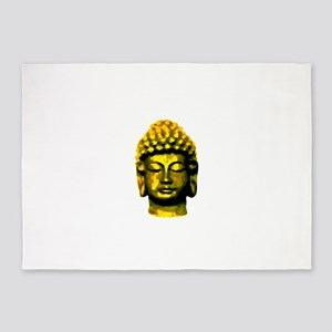 buddha head gold 5'x7'Area Rug