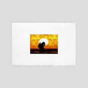 firefighter prayer 4' x 6' Rug