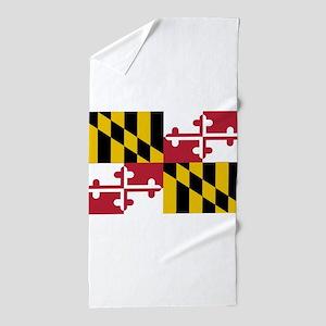 Maryland State Flag Beach Towel