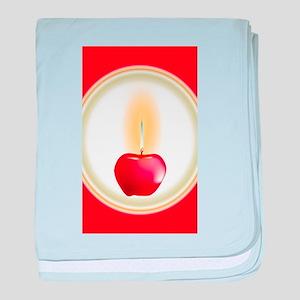 Apple Candle baby blanket