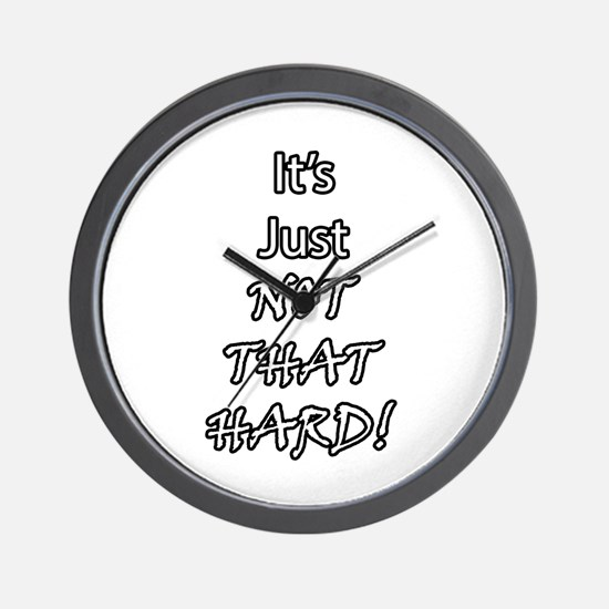 It's Just Not That Hard! Wall Clock