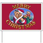 Santa Teddy Yard Sign