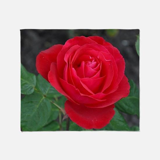 Funny Rose flower Throw Blanket