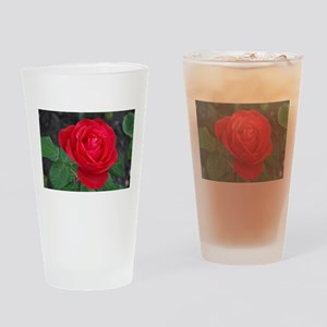 Single red rose Drinking Glass