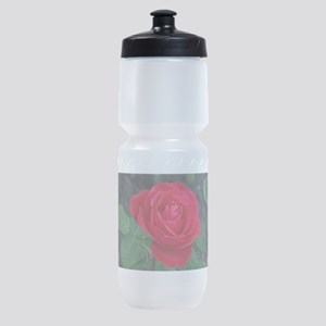Single red rose Sports Bottle