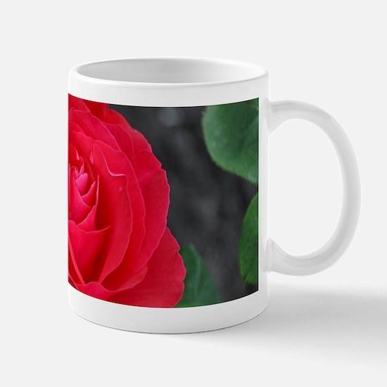 Single red rose Mugs