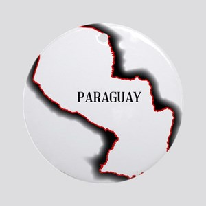 Paraguay Round Ornament