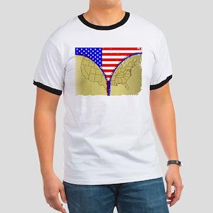 USA Zipper T-Shirt