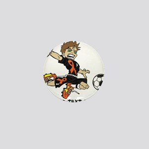 PERSONALIZED SOCCER BOY ORANGE RIBBON Mini Button