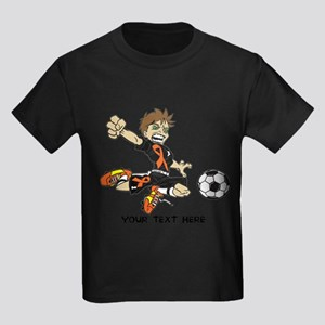 PERSONALIZED SOCCER BOY ORANGE RIBBON T-Shirt