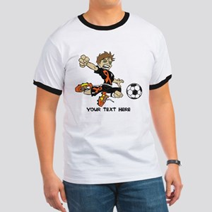 PERSONALIZED SOCCER BOY ORANGE RIBBON T-Shirt