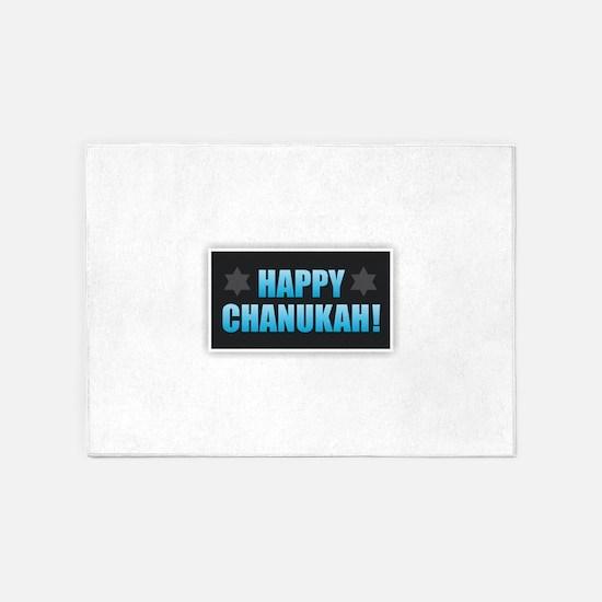 Happy Chanukah 5'x7'Area Rug